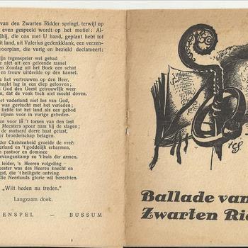 De Ballade van den Zwarten Ridder, kort toneelstukje