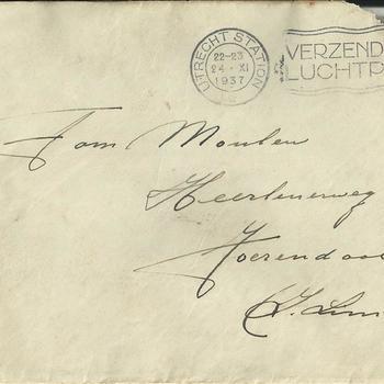 brief aan de fam. Moulen, te Voerendaal 1937