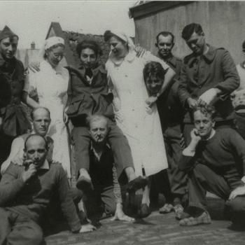 verpleegsters, militairen, Belgen, krijgsgevangen, Nijmegen