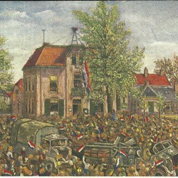 geillustreerde kaart - bevrijding          bevrijding Epe 19 april 1945