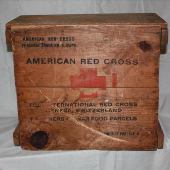 kist van het Amerikaanse Rode Kruis