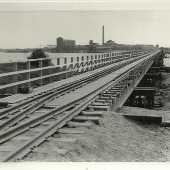 Envelop 19: Spyck Rheinbrücken ( Eisenbahn), kaartje rijnbrug bij Spyck/Emmerich