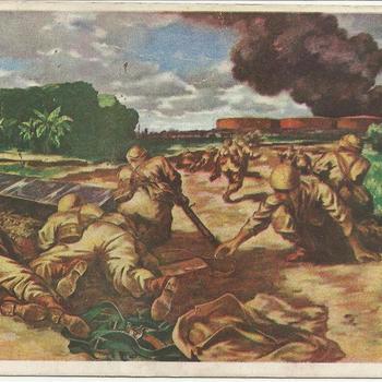 Landing van soldaten,