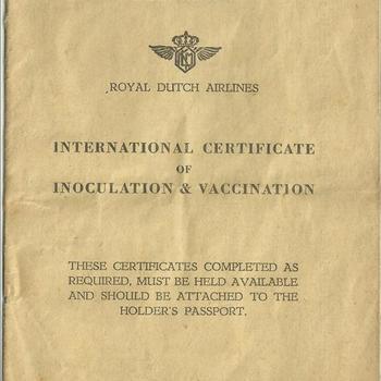 International certificate of inoculation & vaccination van E. Hamer