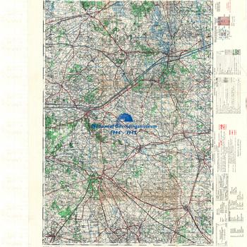 Lochem, Germany, schaal 1 : 50.000, sheet 15, GSGS 4507. First ( emergency ) edition.