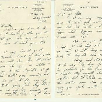 Brief van Dennis Terry aan Maaike van Zandwijk, 31 augustus 1945