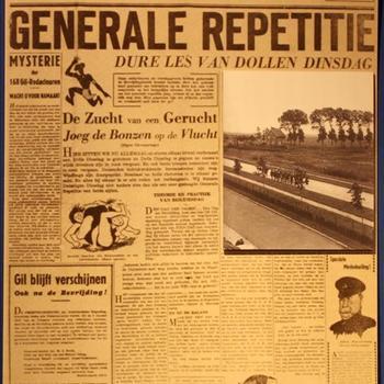 """Replica van een krant """"De Gil"""""""