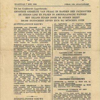 Het Parool, Dagblad voor Den Haag, maandag 7 mei 1945