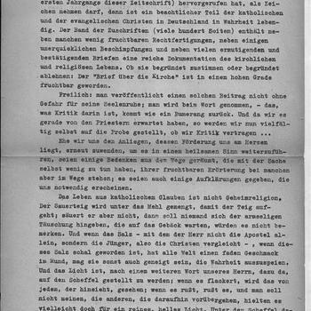 Brief, Das Gespräch über die Kirche
