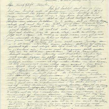 Brief van Antoon Jeuken aan verloofde, 20 juni 1944