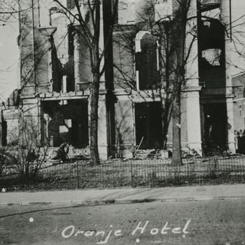 Nijmegen, 22 februari 1944; Oranje Hotel, ruïne