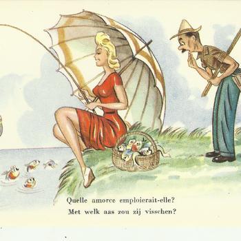 humor  -  met welk aas zou zij vissen ?