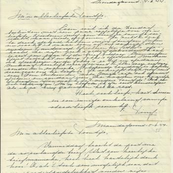 Brief van Tiny Middendorp aan verloofde, 4/5 juni 1944
