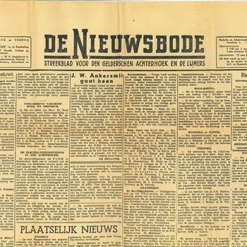 De Nieuwsbode, Streekblad voor den Gelderschen Achterhoek en de Lijmers.