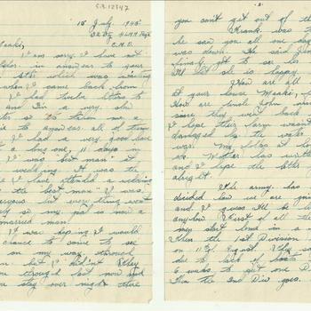 Brief van Dennis Terry aan Miss M. van Zandwijk, d.d.15 July 194