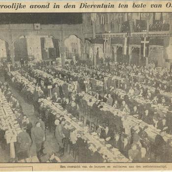 Een vroolijke avond in den Dierentuin ten bate van O. en O.    1940