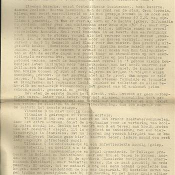 Kort verslag van een interview van R.A.C.H. Tellegen Off.v.Gez 2e klasse. Dir. Gem. Gen.Dienst te Zeist  27 Augustus uit Stanislau teruggekeerd als leider Ned. Geneesk. Kampdienst