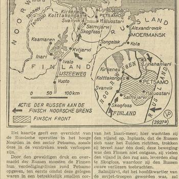 kaartje van de Noordelijke IJszee   23 december 1939