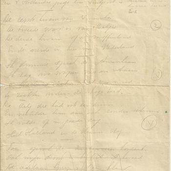 Gedicht, handgeschreven op een formulier ( Arbeitsbereich der N.S.D.A.P. in den Niederlanden, betrefft: Übernahme in den hauptberuflichen Parteidienst) . In A.Dam die grote stad.