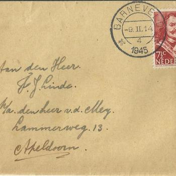 brieven voor de familie Linde van der Meij te Apeldoorn periode 1944 - 1945  brief  21 t/m 29