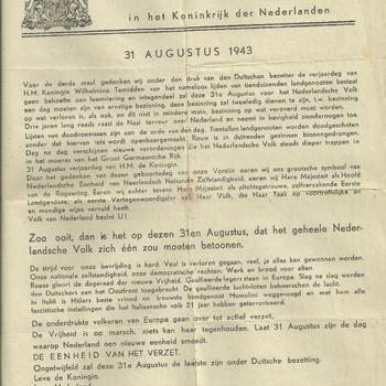 raad van verzet  in het Koninkrijk der Nederlanden  bulletin no 5   1943