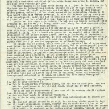 Rapport inzake behoud van de Waalbrug, 30 september 1947, 4 pagina's