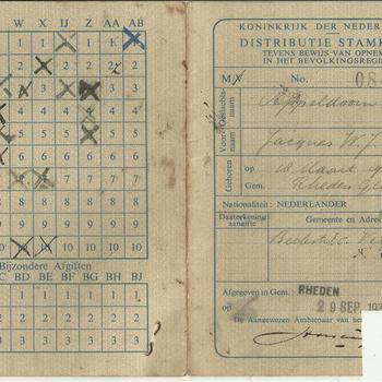 Distributiestamkaart van Jacques Appeldoorn