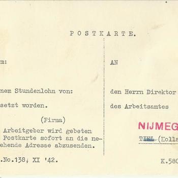 Persoonlijke documenten van Willem Olree, geboren op 25 augustus 1916 te Ubbergen.