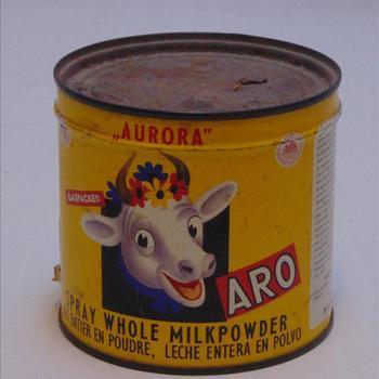 Blikje Aurora, ( Aro) Spray Whole Milkpowder