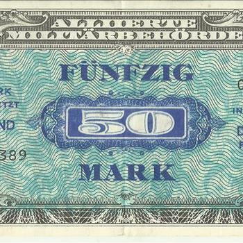 Bankbiljet Duitsland, In Umlauf gesetzt in Deutschland, fünfzig Mark