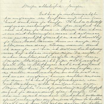Brief van Tiny Middendorp aan verloofde, 16 juli 1943