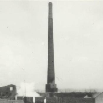 Steenfabriek Spijk, schoorsteen oven D, ontploffend explosief