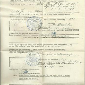 International Certificate of Vaccination against Smallpox