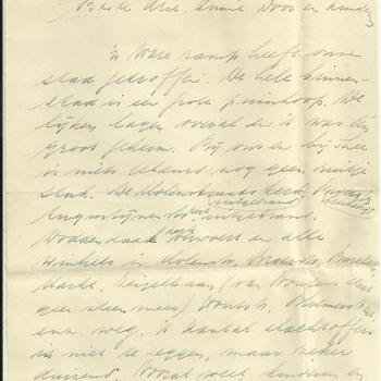 Brief van Wim Driessen te Nijmegen aan zijn familie op 23 februari 1944
