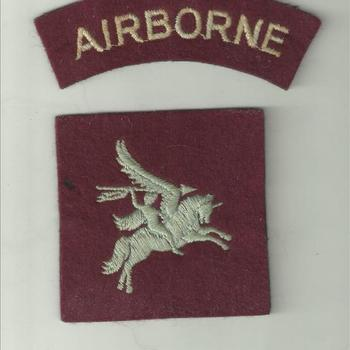 Embleem, stof, Brits ,  Pegasus shoulder patch of the British Airborne troops
