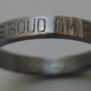 N.S.B. ring   Goud om Staal ,  N.S.B. 1940