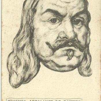 Ansichtkaart met de afbeelding van  Michiel Adriaansz. de Ruyter ( 1607-1676)