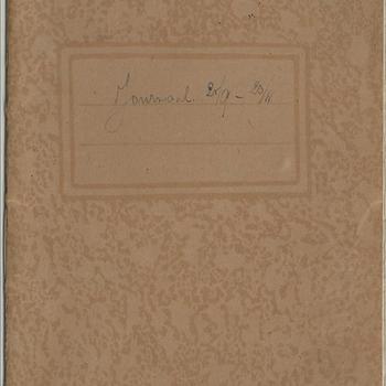 dagboek  schrift no 2  - dhr van Lieshout - 25 september tot 20 november 1944