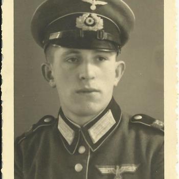 Portret onbekende Duitse soldaat