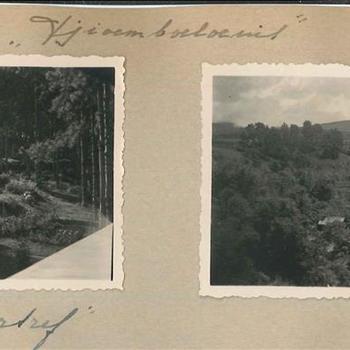 'Tjoemboeloenit', landschap Nederlands-Indië 1949, 2 foto's