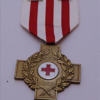 medaille, Nederland, Herinneringskruis 1939-1940 van het Nederlandse Rode Kruis