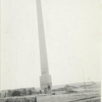 Steenfabriek Spijk, schoorsteen oven D, wankelend