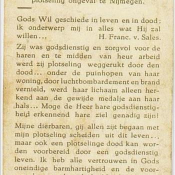 bidprentje (kopie) Wilhelmina van Dijk