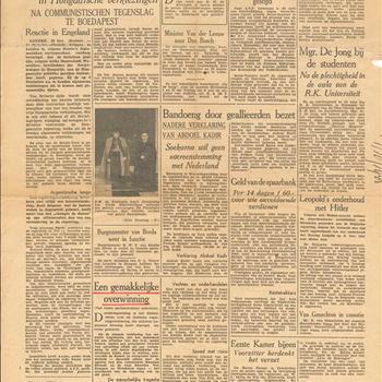 De Tijd, Dagblad voor Nederland, vrijdag 19 oktober 1945