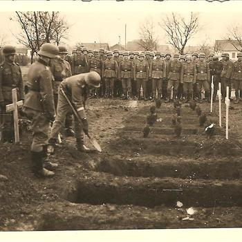 begrafenis Duitse militair