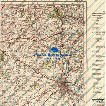 Zelhem, Holland 1:25.000, Sheet 3904, AMS M832 ( GSGS 4414 ), gedrukt op achterkant Duitse kaart van Derby