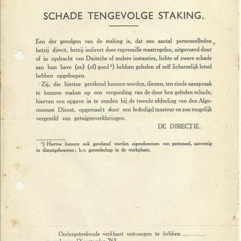 documenten van de N.V. Nederlandsche Spoorwegen periode 1945