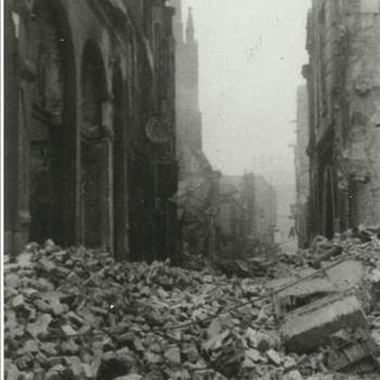 ruïne in Nijmegen na bombardement