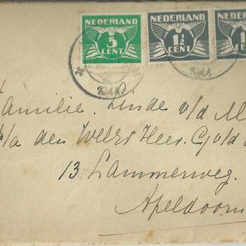brieven voor de familie Linde van der Meij te Apeldoorn periode 1944 - 1945  brief  30 t/m 39