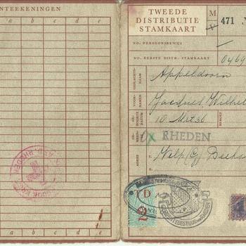 Tweede Distributiestamkaart van Jacques Appeldoorn